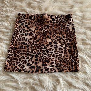 H&M leopard skirt size S